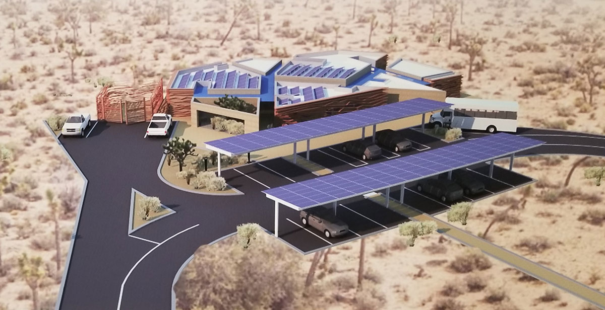 Architecture student wins contest with Joshua Tree visitor center design.