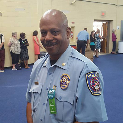 Major Cleveland Smith, deputy director of AACC Public Safety and Police