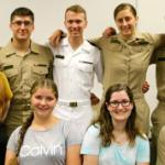 Navy midshipmen and AACC students in Russian course.
