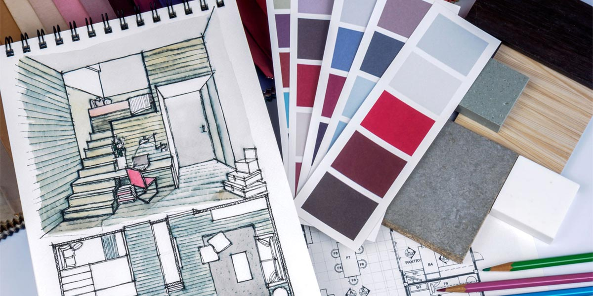 Swatches for interior design
