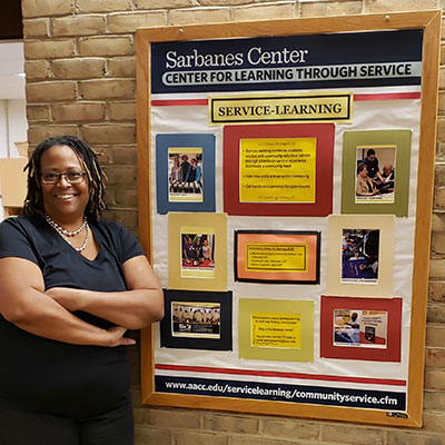 Tresa Ballard with AACC's Center for Service Learning