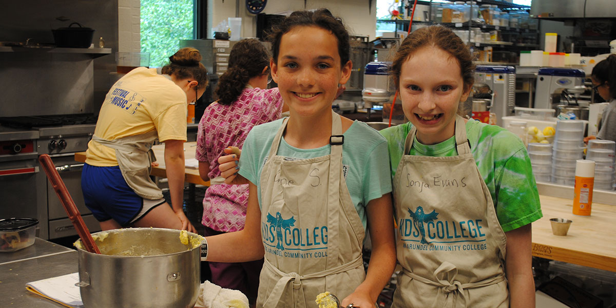 Image of kids baking.