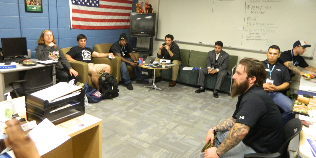 Students in Military Veteran Resource Center